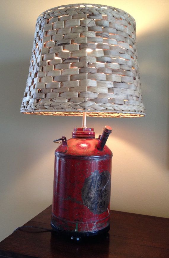 Red antique gas can table lamp made by relit by relitlamps on etsy 92 00