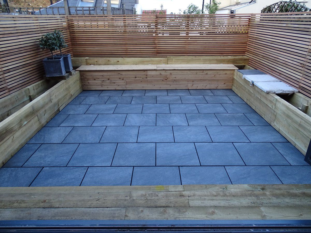 A Great Jet Black Easyjoint Patio Job By Oilcanfinish Landscaping And Property Maintenance Patio Small Backyard Patio London Garden
