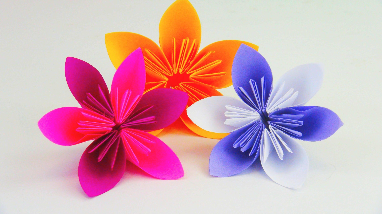 Blume Falten Origami DIY / Schöne Blumen für den Frühling ...