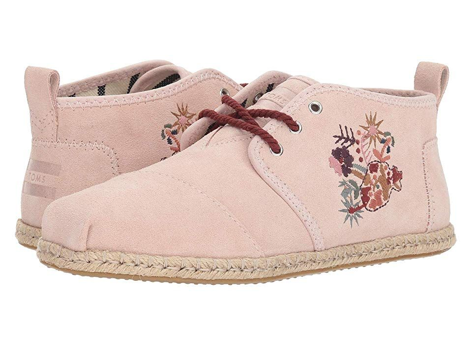 5c750e44137 TOMS Bota (Medium Pink Floral Embroidery Suede Rope) Women s Lace up casual  Shoes.