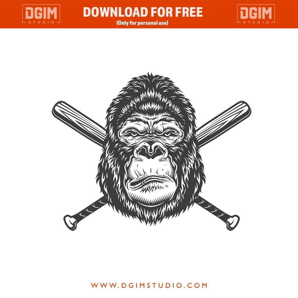 Monkey S Head In A Baseball Cap Monkey Art Gorillas Art Graffiti Tattoo