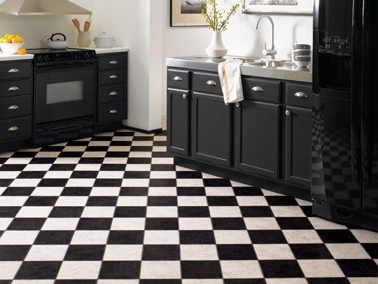 Tarkett Lifetime French Marble Black White Slate Bathroom Tile Eclectic Bathroom House Flooring