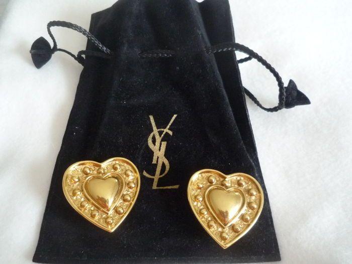 a0b591f8629 Yves Saint Laurent - Heart-shaped oorbellen Clip-On Earrings door Yves  Saint Laurent