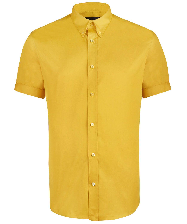 Mikkel Rude mustard short-sleeve shirt   Trad Skinhead Style ...