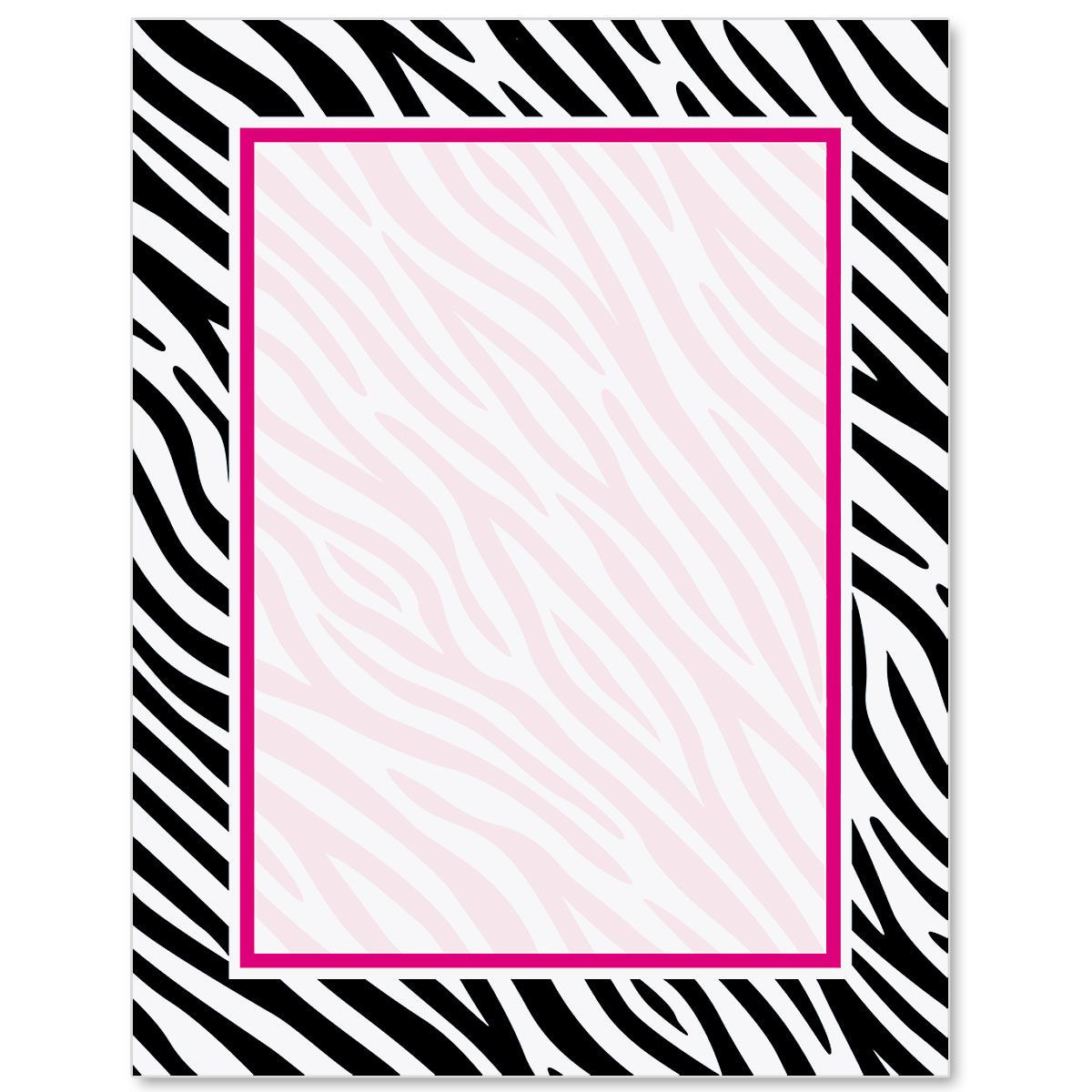 Zebra Print Border Papers Borders For Paper Clip Art Borders