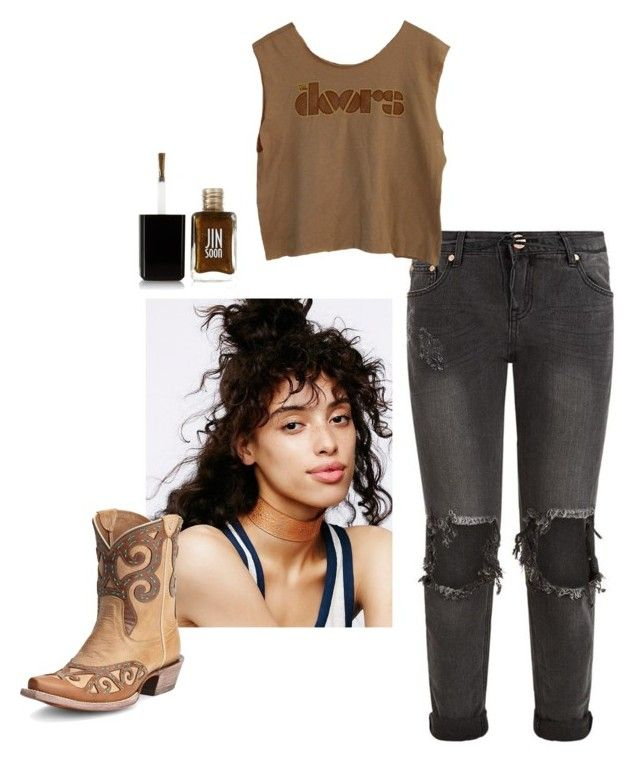 """""""Crazy hair:don't care"""" by tori-holbrook-th on Polyvore featuring Free People, One Teaspoon, Ariat and JINsoon"""