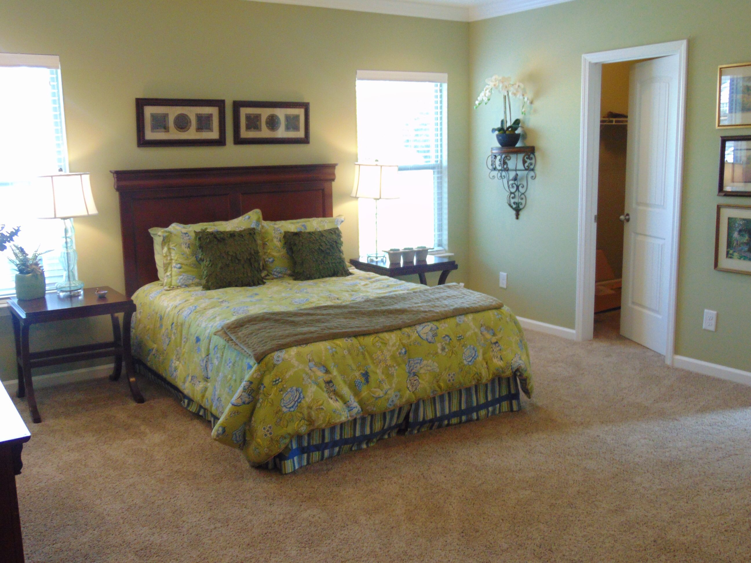 Master Suite on the main floor with plenty of space to relax! Also features a Walk-In Closet and luxurious bath.  Come visit Ole South's Model Home at Belmont.  www.olesouth.com/Belmont