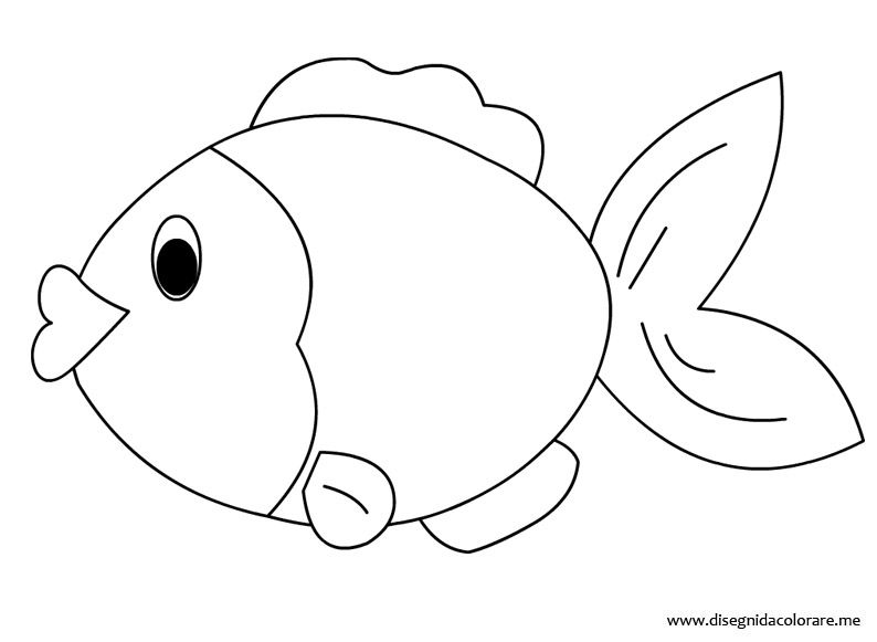 Fish coloring page coloring page pinterest pesce for Disegno pesciolino da colorare