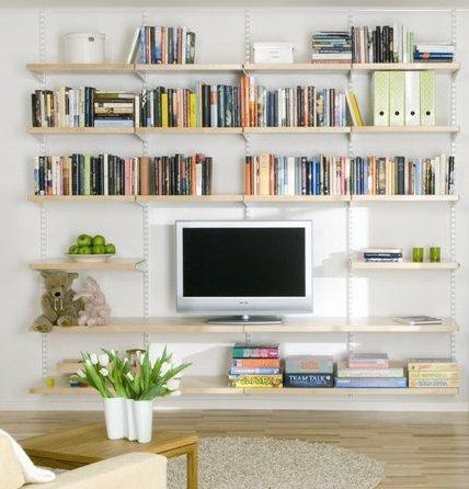 Living Room Shelving Ideas Wall Hanging Ideas For Living Room Better Home And Garden Living Room Shelves Wall Bookshelves Wall Shelves Living Room