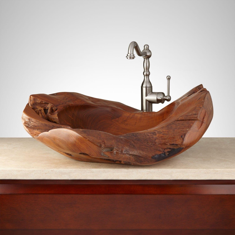 Jansill Teak Root Vessel Sink Stone Vessel Sinks Copper Vessel Sinks Vessel Sink