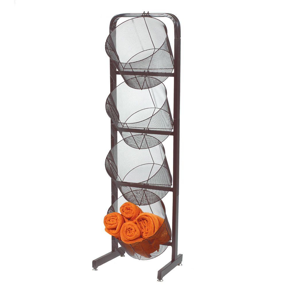 Single Wire Basket Display With Extra Large Mesh Baskets ...