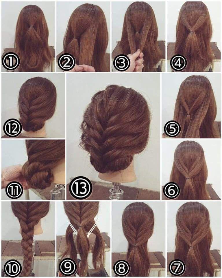 Einfache Frisur Schritt Fur Schritt Zu Hause Neue Frisuren Party Hairstyles For Long Hair Long Hair Styles Hair Styles