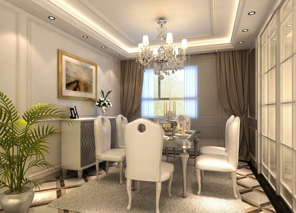 Neoclassical interior design neoclassical dining room for Interior decoration with glass