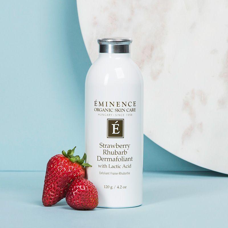 Eminence Organic Skin Care Strawberry Rhubarb Dermafoliant Image 3 Eminence Organic Skin Care Skin Care Summer Skin Care Tips