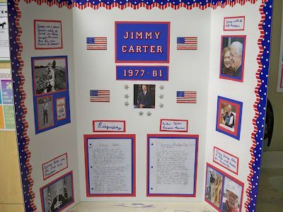 Biography Trifold Display School Stuff Pinterest First - Unique science fair tri fold ideas