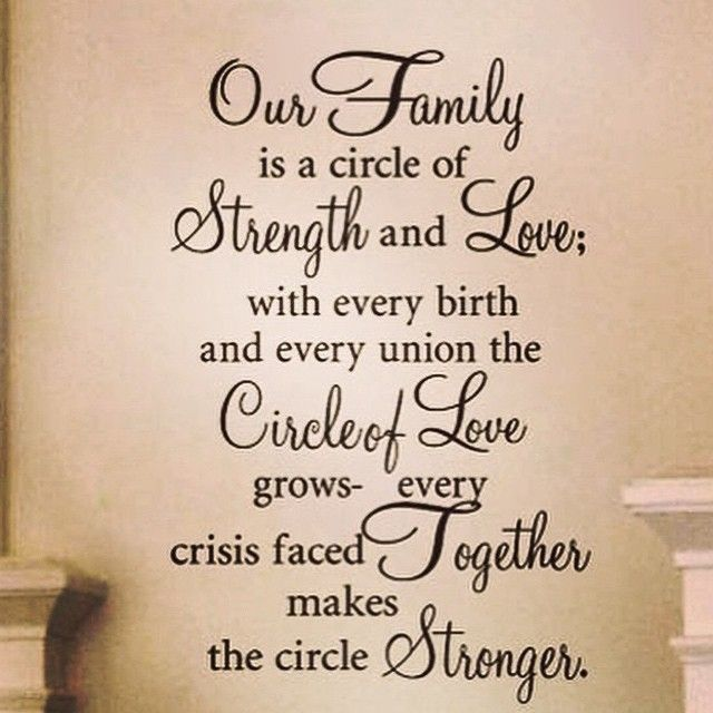 Findergram Family Poems Circle Quotes Family Wall Quotes