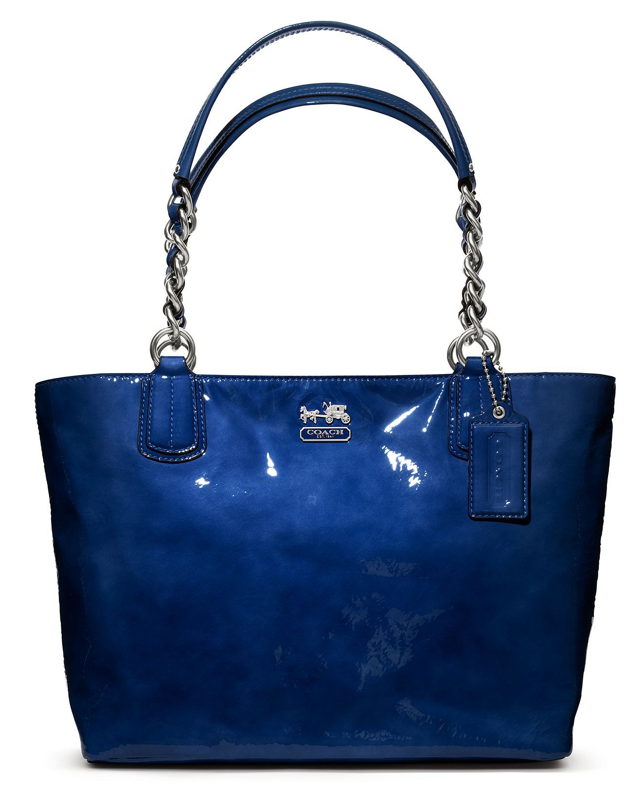 e9dfaa2ca0 COACH MADISON PATENT TOTE - Coach Handbags - Handbags   Accessories - Macy s