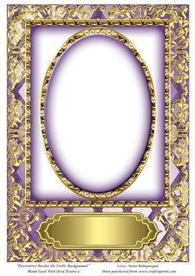 Decorative border on trellis background blank card with oval decorative border on trellis background blank card with oval on craftsuprint designed by anna babajanyan beautiful blank card front which i have designed m4hsunfo