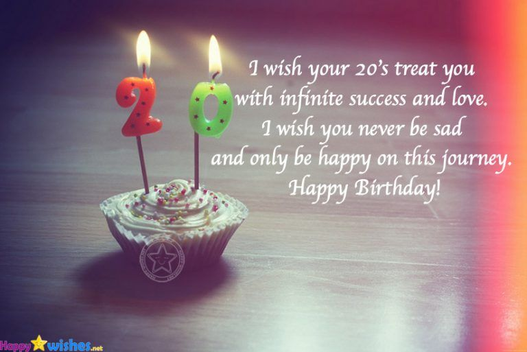 Happy 20th Birthday Wishes Quotes For Success Happy 20th Birthday 20th Birthday Wishes Happy Birthday Daughter