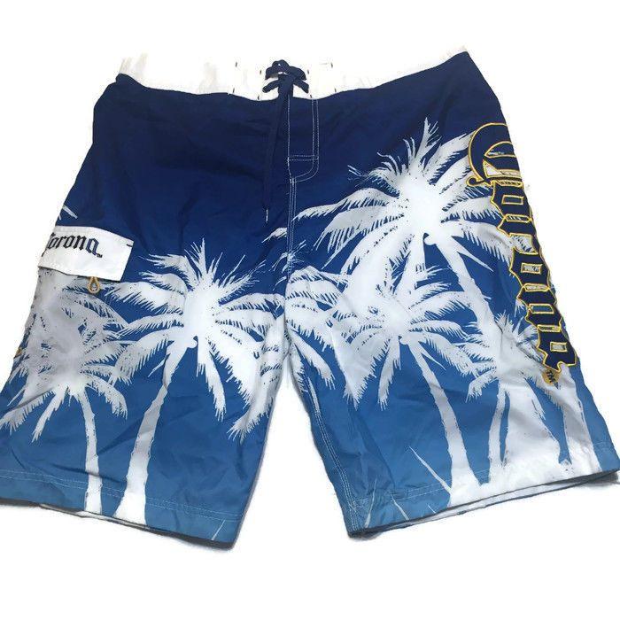 78228404b5 Corona Palm Trees Bold Embroidered Swim Board Short Size XXL #Corona  #BoardShorts