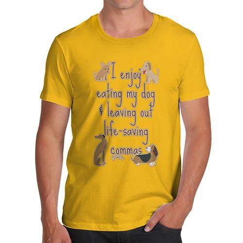 Men's Funny Life Saving Commas Grammar T-Shirt