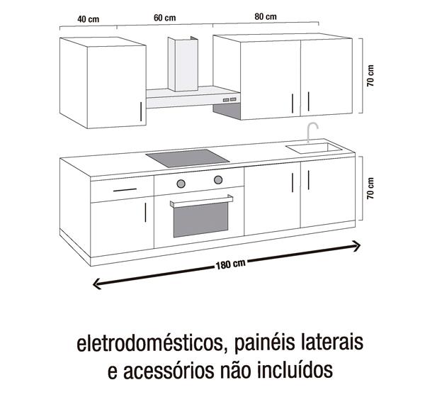 Cozinha 1.80m   DELINIA GALES BRANCO   Leroy Merlin