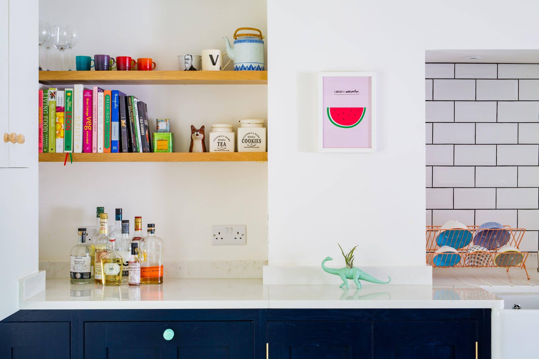 The Colourful Fun shaker Kitchen   Shaker style kitchens, Oak ...