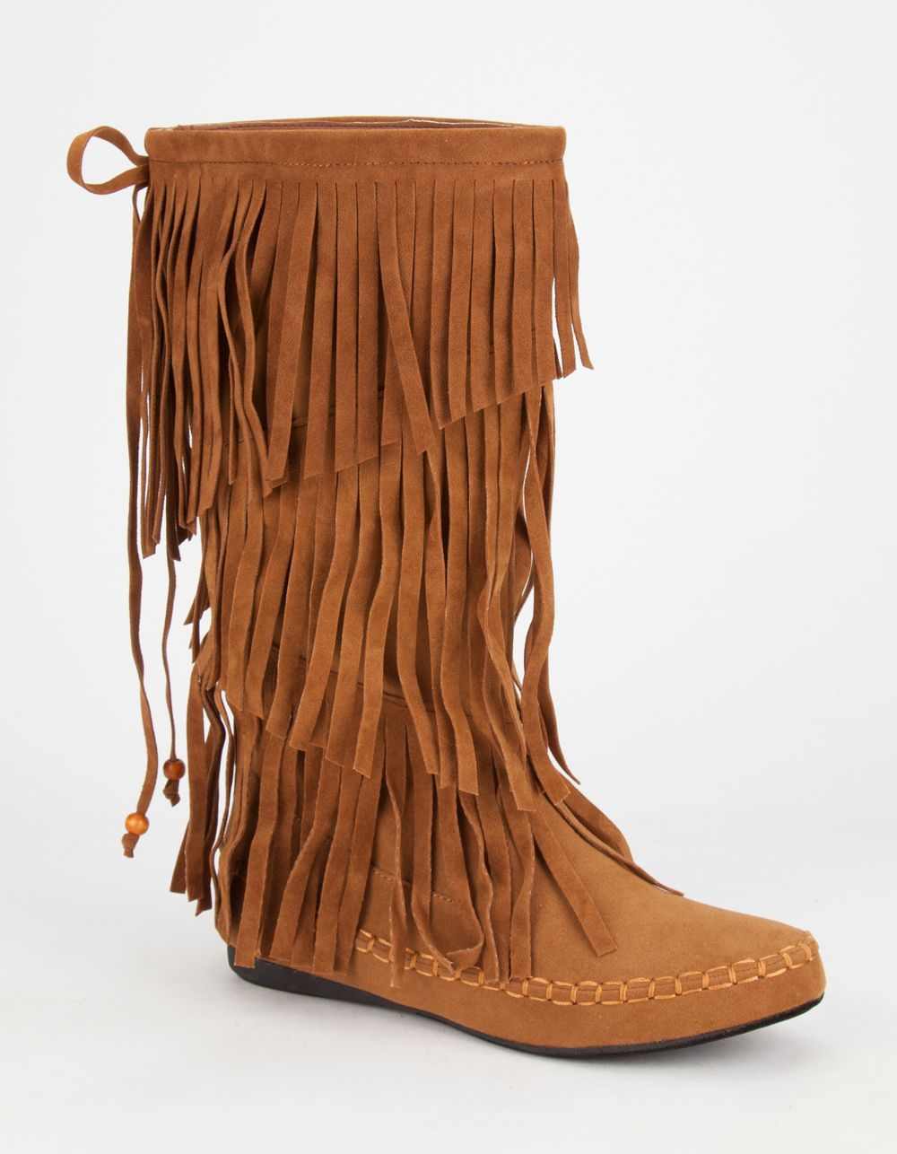 ADRIANA Mudd Womens Tall Fringe Moccasin Boots 272064409 | Boots ...