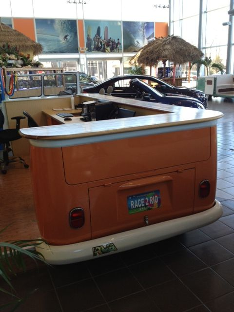 Custom Dana Surfboards Inspired Counter For A Vintage
