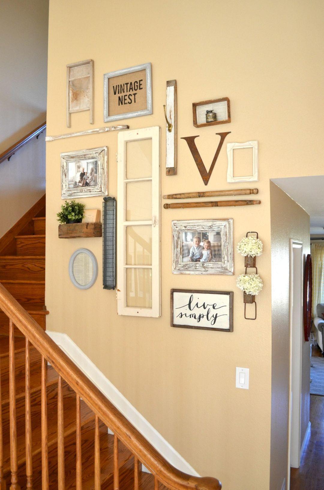 30 Wonderful Stairway Gallery Wall Ideas | Wall ideas, Gallery wall ...