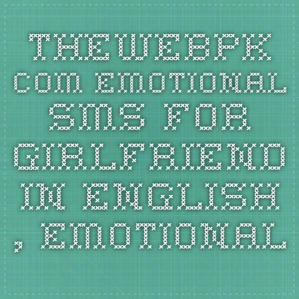 Emotional sms girlfriend