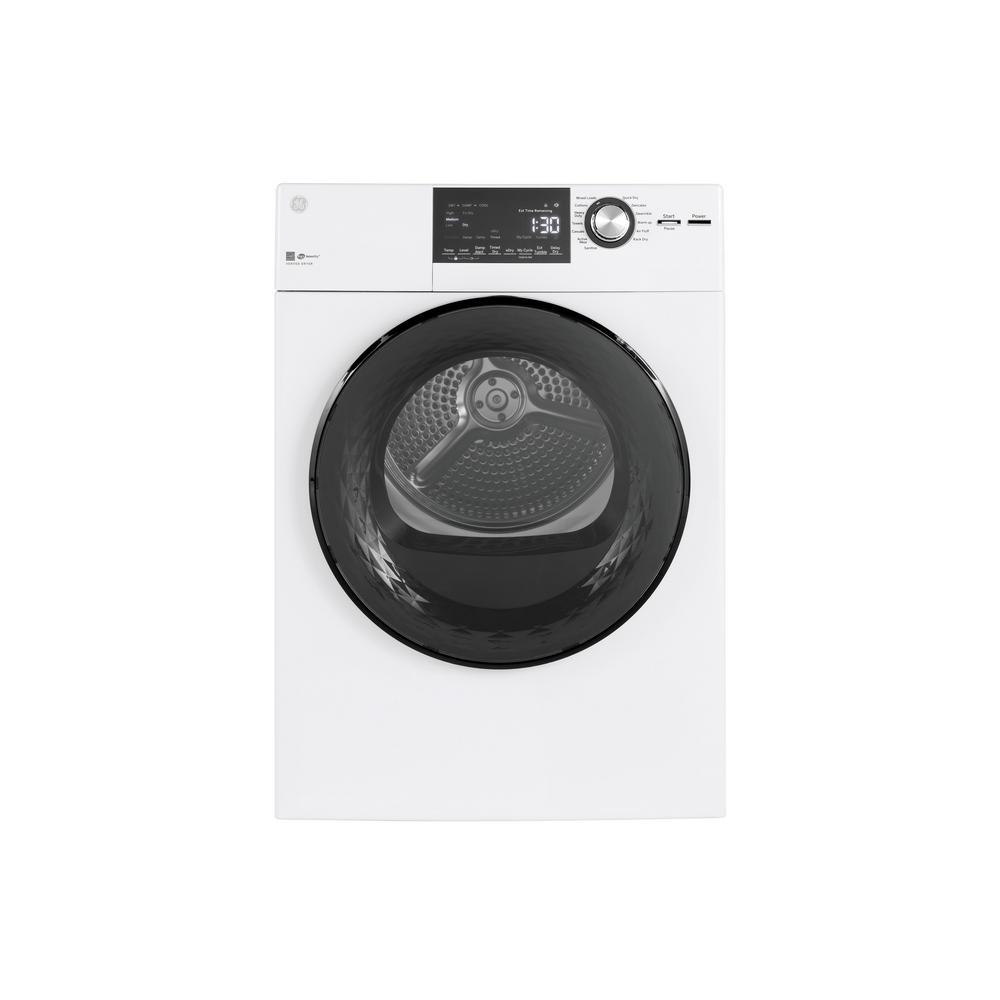 GE 4.3 Cu. Ft. 240 Volt White Electric Dryer With