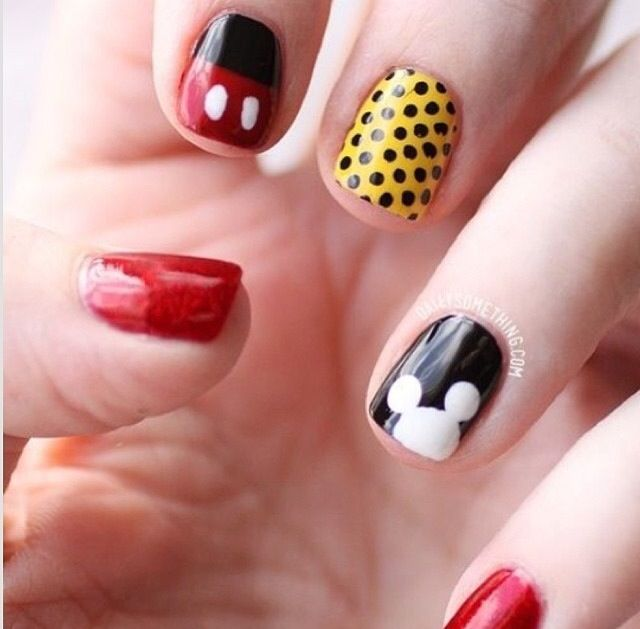 Mickey Nail Designs You Must Love | Uñas disney, Disney y Coser