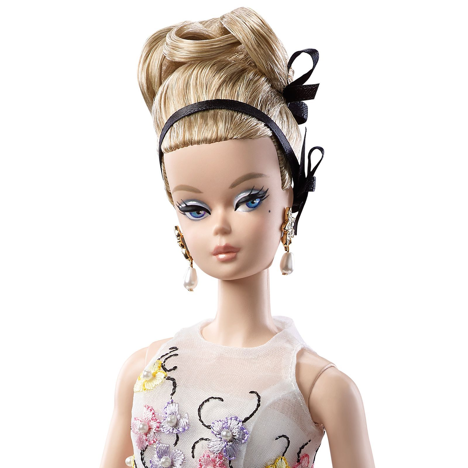 Barbie DGW56 Collection Classic Cocktail Dress Silkstone Doll Mattel