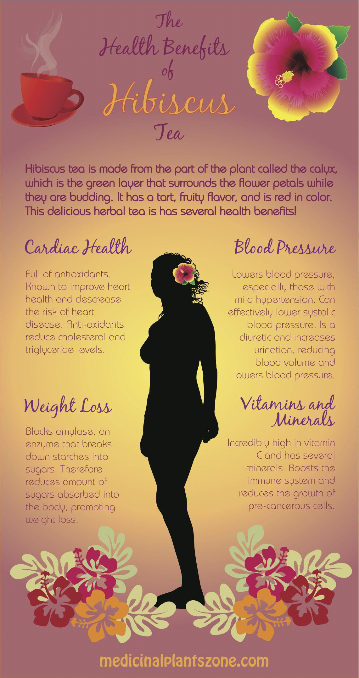 What are the health benefits of drinking hibiscus tea?