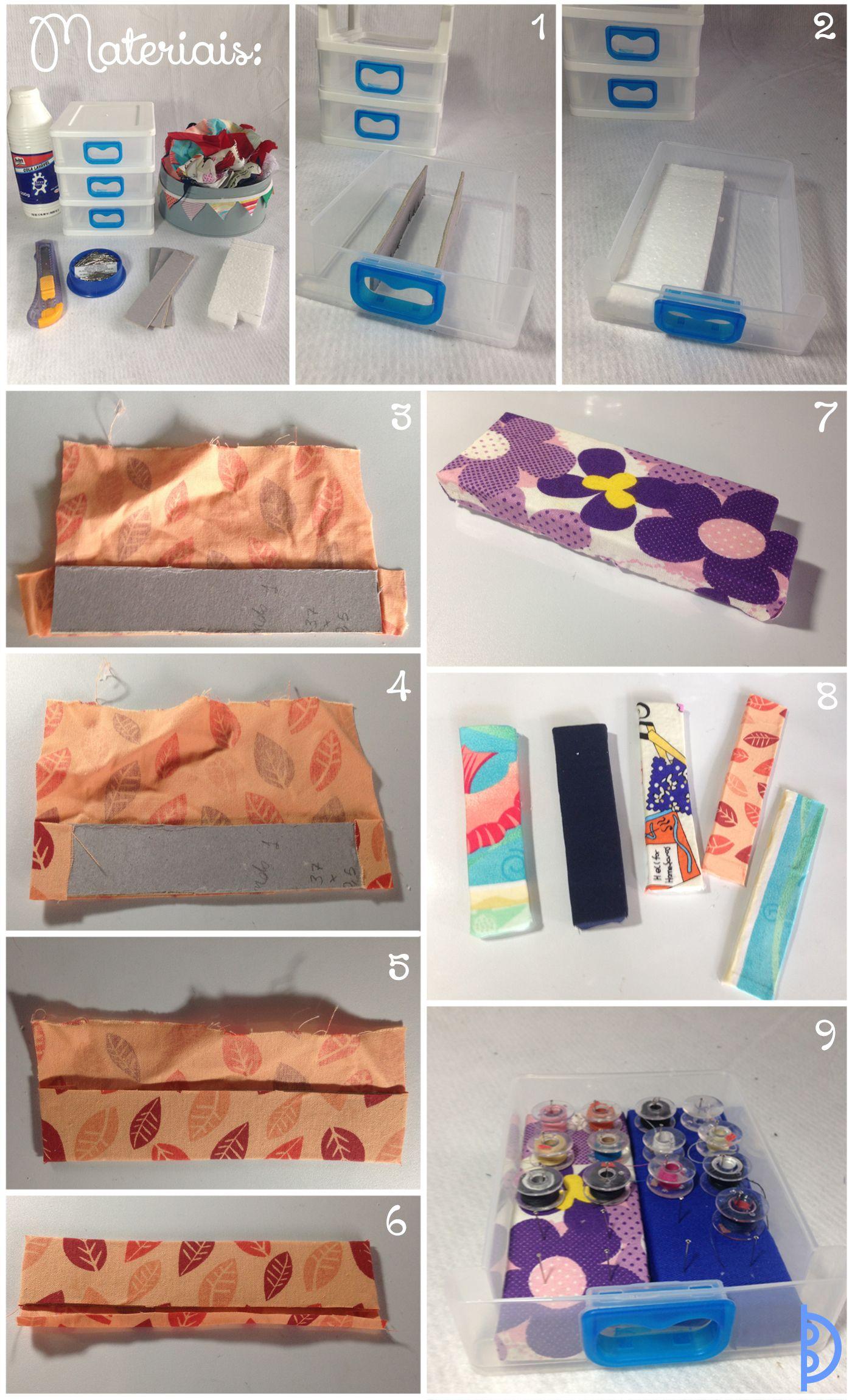 Gaveteiro para peças da máquina | How to keep your sewing stuff organized
