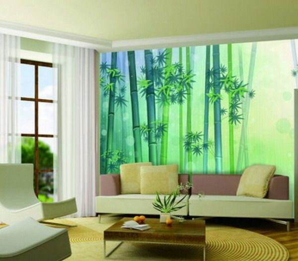 Green Bamboo Living Room Simple House Interior Design Cool Walls Wall Paint Designs