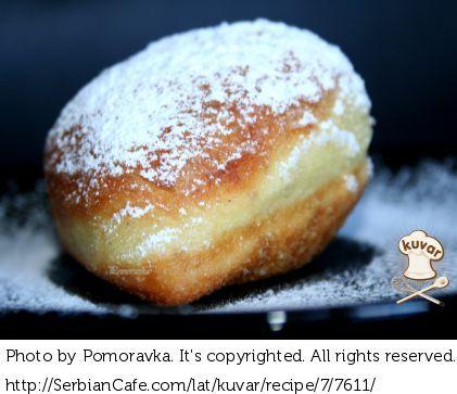 Krofne Aka Serbian Style Doughnut Macedonian Food Serbian Recipes Savoury Food