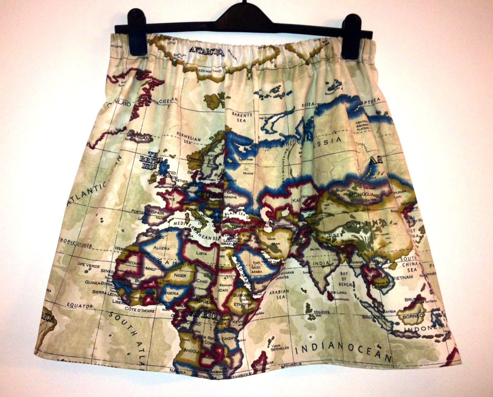 Map of the world skirt beige 3000 handmade skirts pinterest world map skirt beige womens world map print skirt in beige elastic waist available in sizes s uk m and l this skirts falls to the knee when worn on the gumiabroncs Images