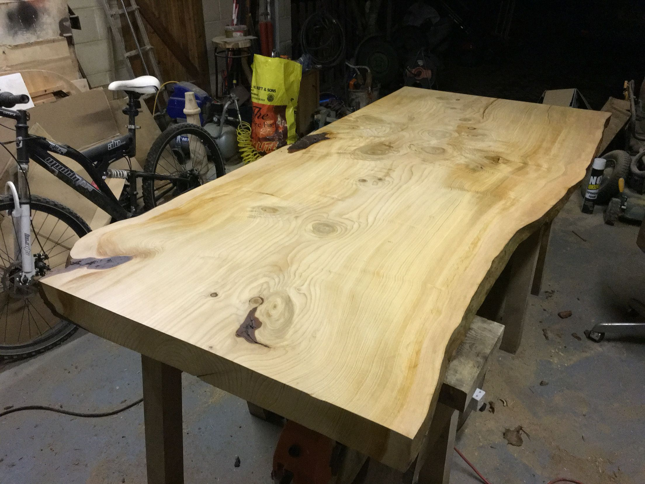 Western red cedar table top western red cedar live edge table top - Live Edge Lebanon Cedar Table Top Finished And Oiled Ready For Client In Wales