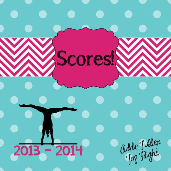 Gymnastics Score Book/Meet Book  Custom Designed by MyMeetBook, $25.00
