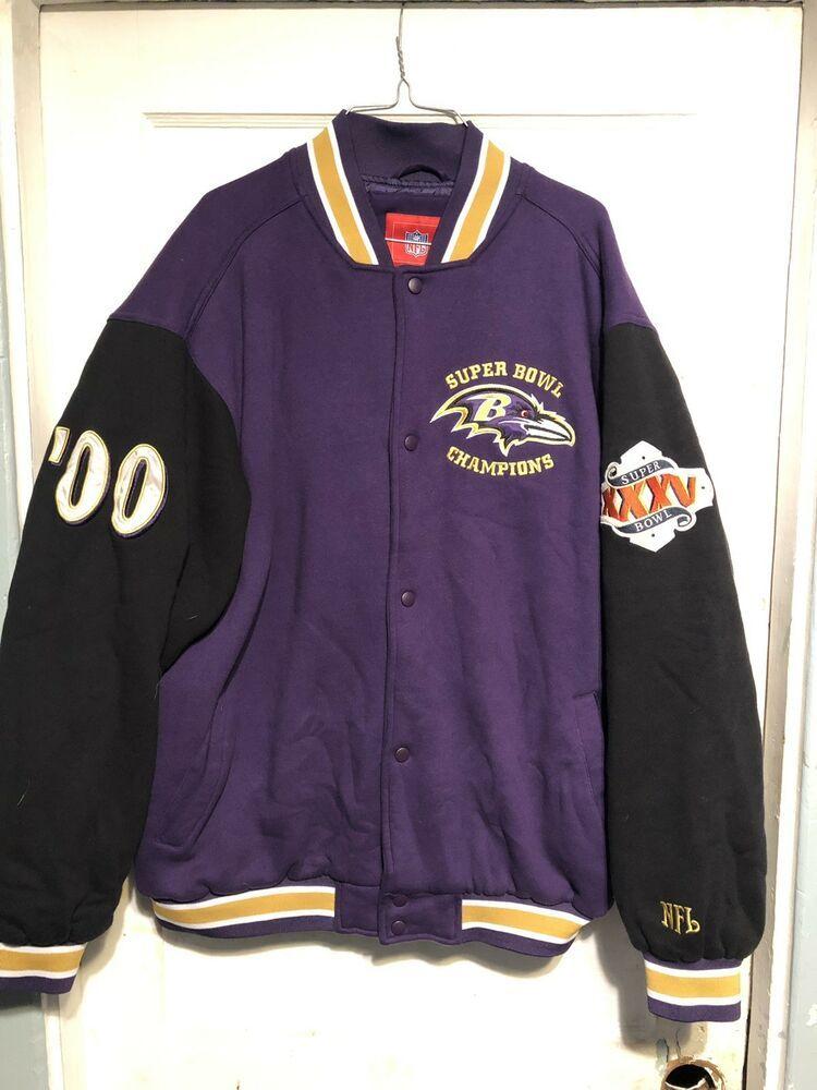 the latest c084c 336b1 Baltimore Ravens 2000 Super Bowl Varsity Jacket #fashion ...