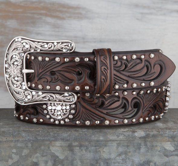 Ariat Brown Concho Studded Belt | Gürtel