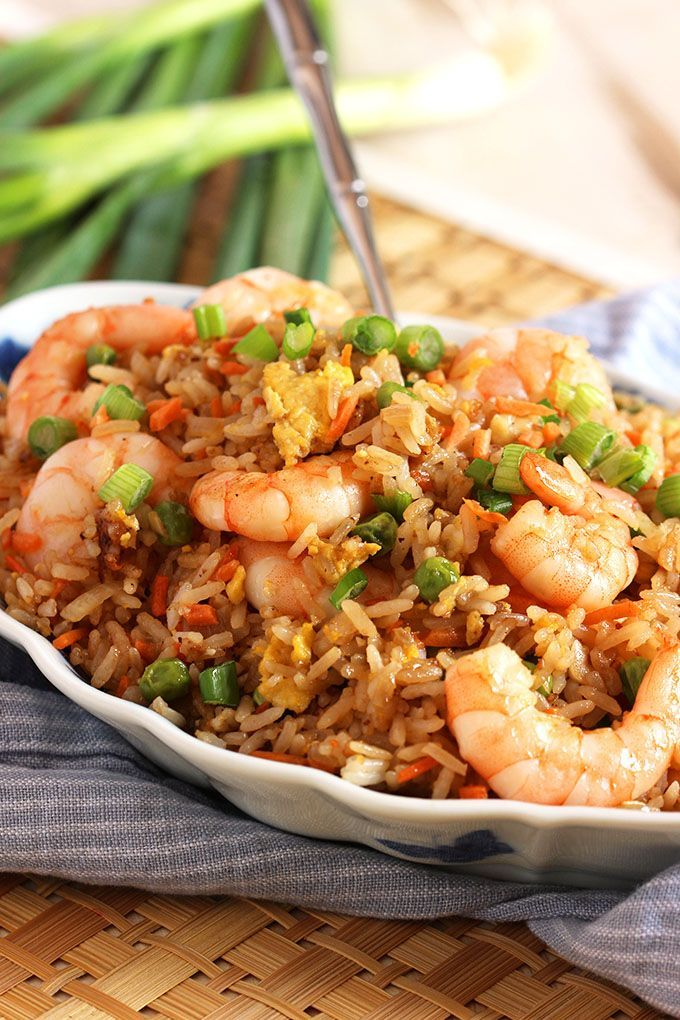 in minutes, this Easy Shrimp Fried Rice recipe is better than take out.  So simple and quick to make.   @suburbansoapbox