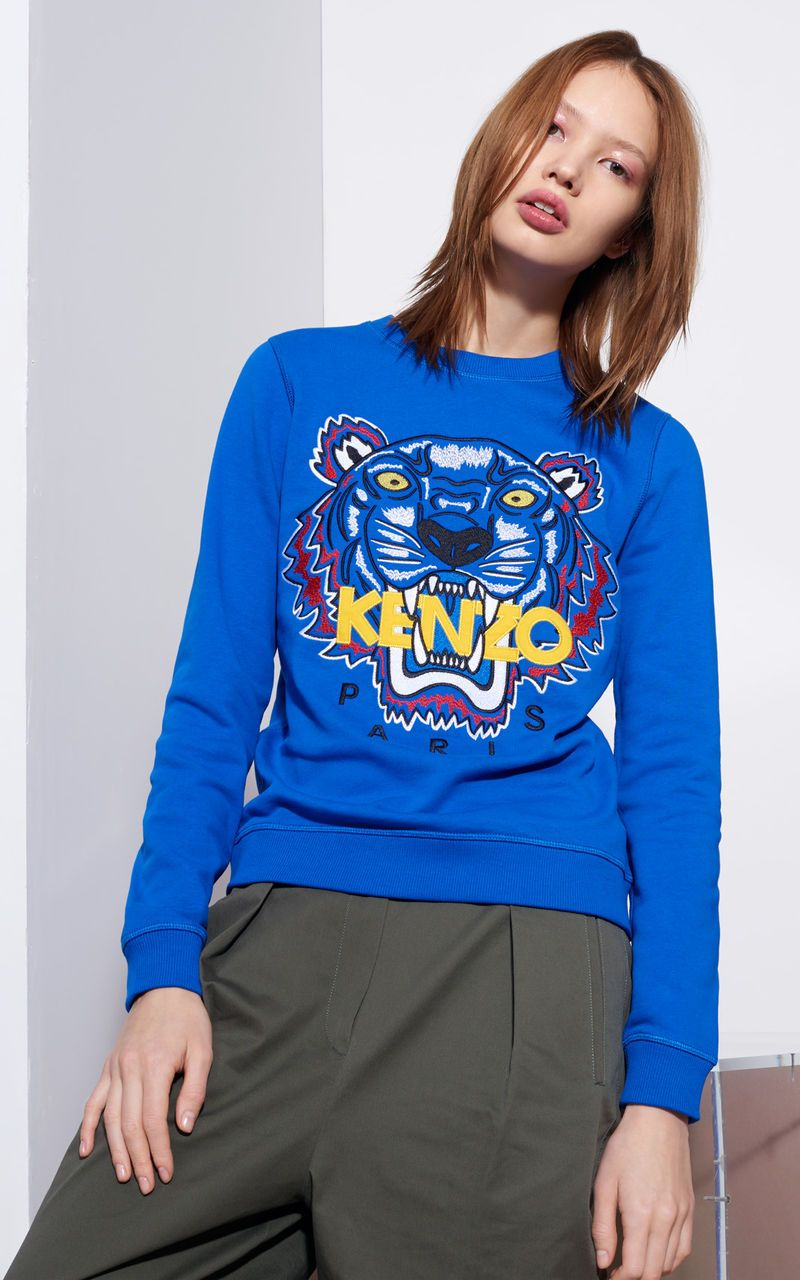 3d73c9d8b7 Tiger Sweatshirt, ROYAL BLUE, KENZO | KENZO in 2019 | Kenzo clothing ...