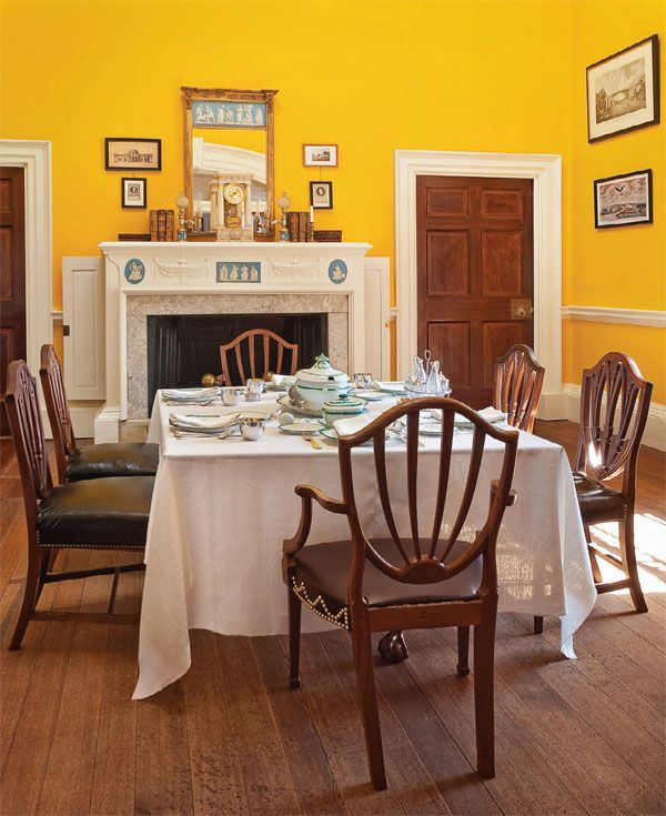 Colonial Dining Rooms Center Hall Colonial Kitchen Room: Thomas Jefferson's Monticello- Dining Room