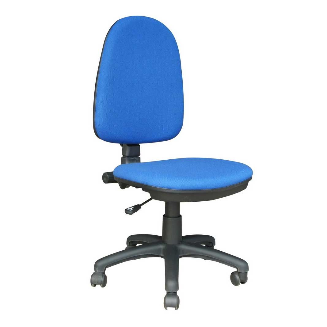 Blue Fabric Cheap Task Chairs Without Arms Cheap Office Chairs