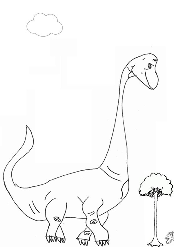 Free Online Brachiosaurus Colouring Page Kids Activity Sheets