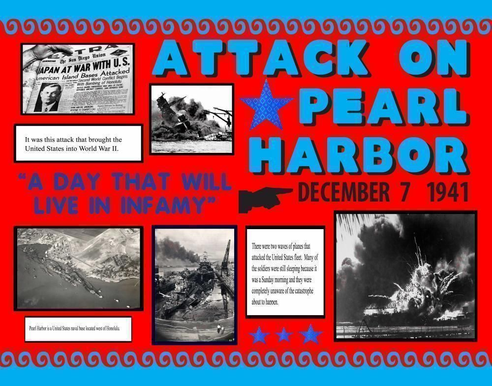 Make A Attack On Pearl Harbor Poster History Project Poster Ideas Pearl Harbor Attack Pearl Harbor History History Projects