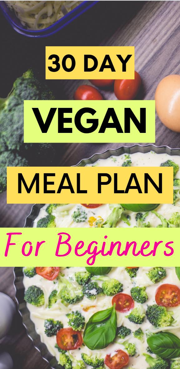 30 Day Plant Based Meal Plan For Beginners In 2020 Vegan Recipes Beginner Low Carb Vegan Diet Vegan Meal Plans